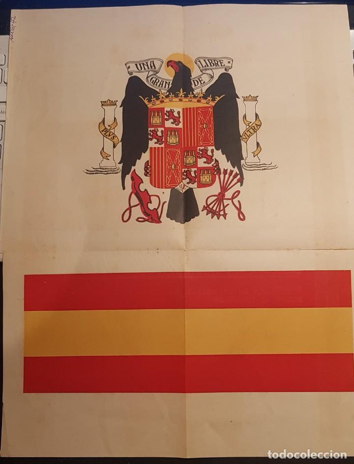 Coleccionismo de carteles: Titulo de empresa ejemplar a cargo de la JONS, 1942 - Foto 2 - 217654442