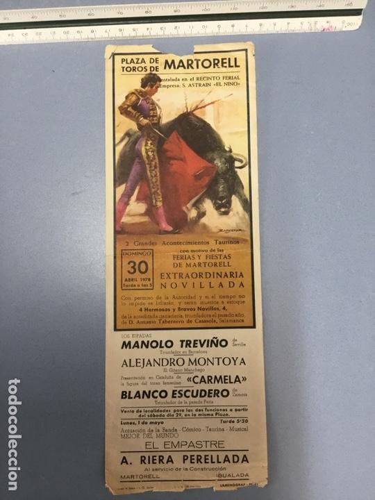 TOROS EN MARTORELL (Coleccionismo - Carteles Pequeño Formato)