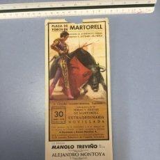 Colecionismo de cartazes: TOROS EN MARTORELL. Lote 217672332