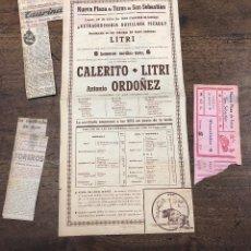 Coleccionismo de carteles: CARTEL PLAZA TOROS SAN SEBASTIAN. 25 DE JULIO DE 1949. CALERITO - LITRI Y ANTONIO ORDOÑEZ.. Lote 217702297