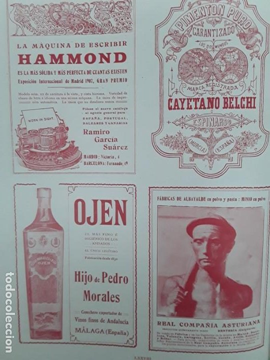 Coleccionismo de carteles: OJEN EL MAS FINO E HIGIENICO DE LOS ANISADOS ANIS HIJO PEDRO MORALES MALAGA VINO HOJA AÑO 1909 - Foto 3 - 217958135