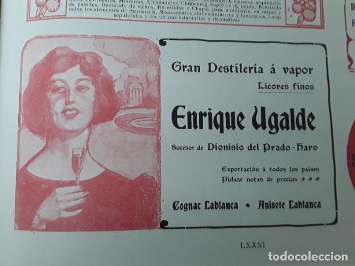 GRAN DESTILERIA A VAPOR ENRIQUE UGALDE LICORES FINOS SUCESOR DIONISIO DEL PRADO HARO HOJA AÑO 1909 (Coleccionismo - Carteles Pequeño Formato)