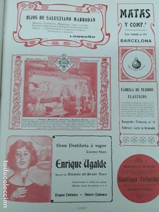 Coleccionismo de carteles: GRAN DESTILERIA A VAPOR ENRIQUE UGALDE LICORES FINOS SUCESOR DIONISIO DEL PRADO HARO HOJA AÑO 1909 - Foto 2 - 217958306