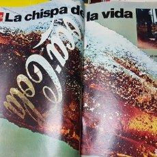 Coleccionismo de carteles: ANTIGUO ANUNCIO COCA COLA LA CHISPA DE LA VIDA. Lote 218099258