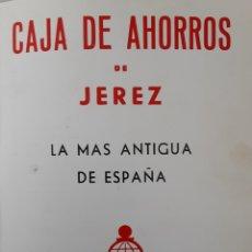 Coleccionismo de carteles: CARTEL PUBLICITARIO CAJA DE AHORROS DE JEREZ AÑOS 60. Lote 218300666