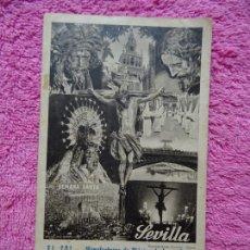Colecionismo de cartazes: SEMANA SANTA SEVILLA EL SOL MANUFACTURAS DE LONA ORIGINAL FOTO SERRANO HUECO GRAVADO FOURNIER. Lote 218401218