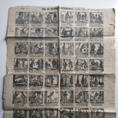 Coleccionismo de carteles: ANTIGUA AUCA NUMERO 5 LA VIDE DE UN POBRE PRETENDIENTE MADRID 1870. Lote 219733682