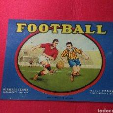 Coleccionismo de carteles: ANTIGUO CARTEL PUBLICIDAD FOOTBALL DE NARANJAS. Lote 220278071