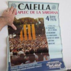 Coleccionismo de carteles: 51 APLEC DE LA SARDANA CALELLA 4 JUNY 1978 - 51 POR 46 CENTIMETROS. Lote 221802501