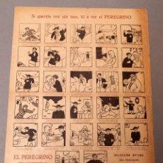 Collectionnisme d'affiches: CHARLOT - AUCA - SI QUERÉIS REIR SIN TINO, ID A VER EL PEREGRINO - CHAPLIN. Lote 221821213