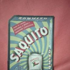 Coleccionismo de carteles: ANTIGUA PUBLICIDAD JABÓN SAQUITO. Lote 221837036