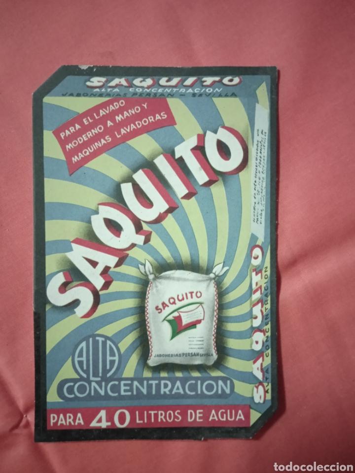 SAQUITO PUBLICIDAD ANTIGUA DE JABON (Coleccionismo - Carteles Pequeño Formato)