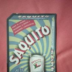 Coleccionismo de carteles: SAQUITO PUBLICIDAD ANTIGUA DE JABON. Lote 221837121