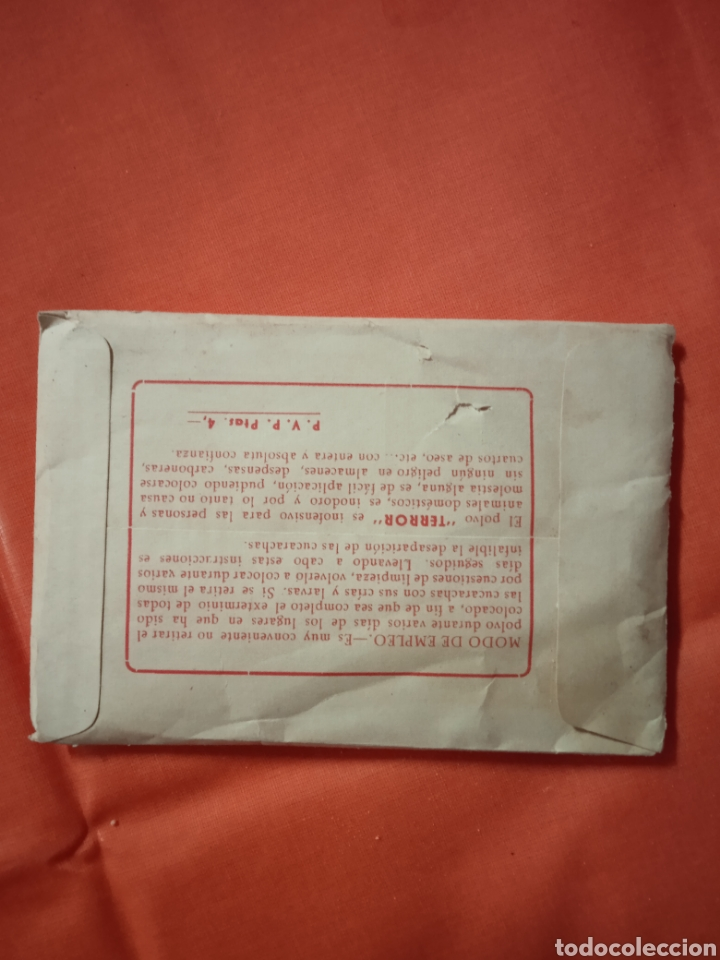 Coleccionismo de carteles: Diana Eibar Antiguo sobre terror mata cucarachas lote - Foto 2 - 221846496