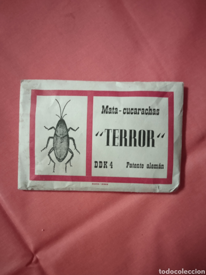 Coleccionismo de carteles: Diana Eibar Antiguo sobre terror mata cucarachas lote - Foto 3 - 221846496