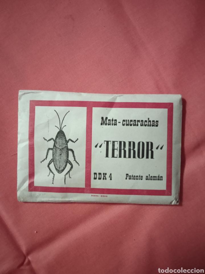 Coleccionismo de carteles: Diana Eibar Antiguo sobre terror mata cucarachas lote - Foto 4 - 221846496