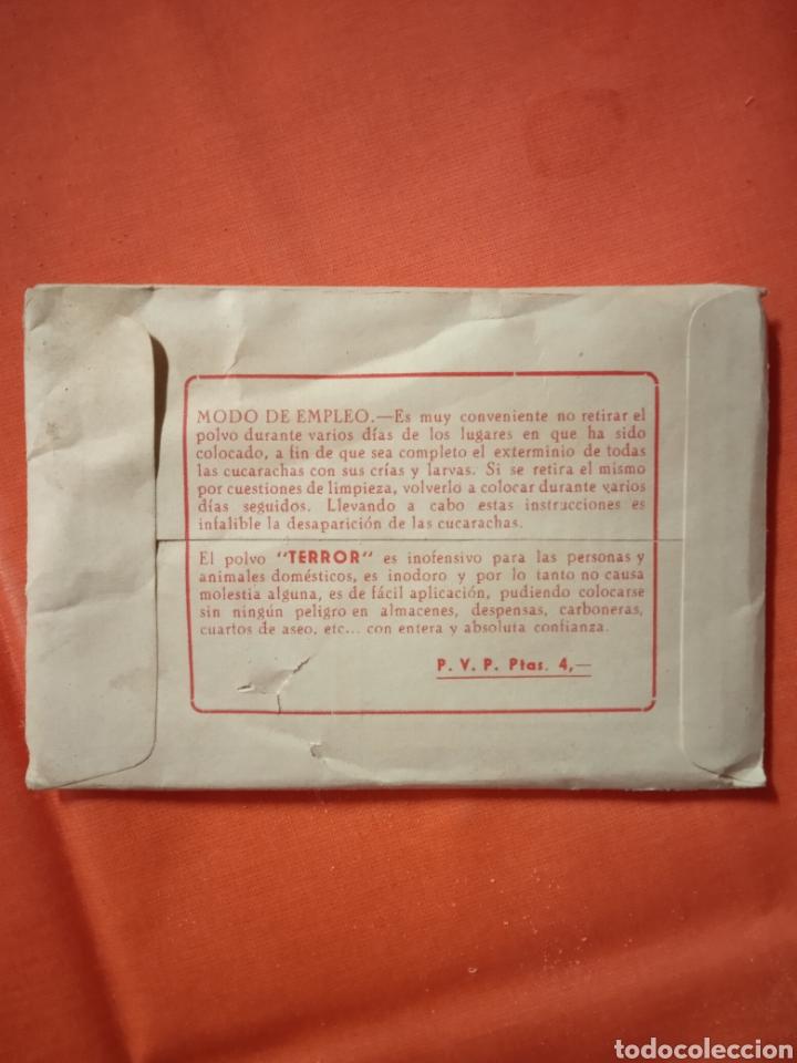 Coleccionismo de carteles: Diana Eibar Antiguo sobre terror mata cucarachas lote - Foto 5 - 221846496