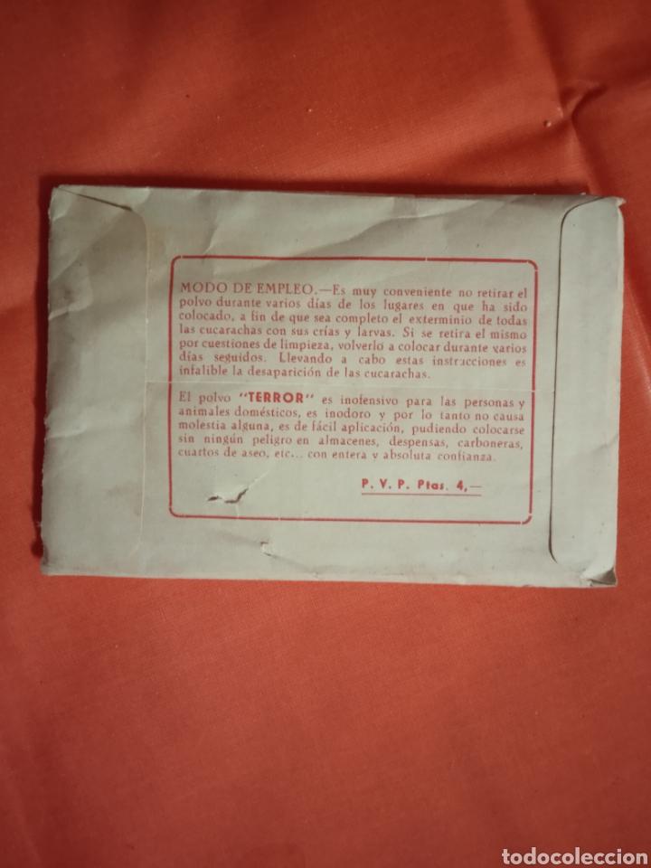 Coleccionismo de carteles: Diana Eibar Antiguo sobre terror mata cucarachas lote - Foto 6 - 221846496