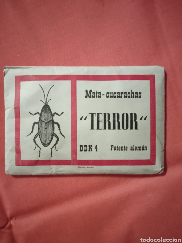 DIANA EIBAR ANTIGUO SOBRE TERROR MATA CUCARACHAS LOTE (Coleccionismo - Carteles Pequeño Formato)