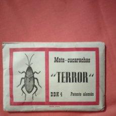 Coleccionismo de carteles: DIANA EIBAR ANTIGUO SOBRE TERROR MATA CUCARACHAS LOTE. Lote 221846496