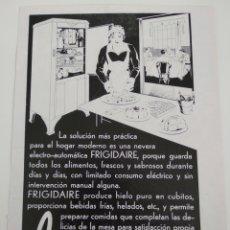 Coleccionismo de carteles: PUBLICIDAD PERTENECIENTE A REVISTA AÑO 1933-1934 24CMX17CM.FRIGIDAIRE. Lote 221884523
