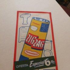 Coleccionismo de carteles: CARTEL ZIG ZAG. Lote 222038500