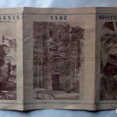 Coleccionismo de carteles: 1942 ARCOS DE LA FRONTERA TRIPTICO INFORMATIVO DE SEMANA SANTA. Lote 222071600