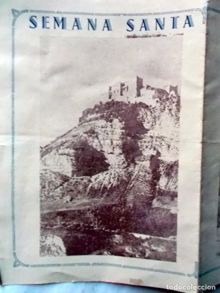 1942 ARCOS DE LA FRONTERA TRIPTICO INFORMATIVO DE SEMANA SANTA 2 (Coleccionismo - Carteles Pequeño Formato)