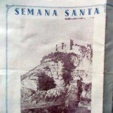 Coleccionismo de carteles: 1942 ARCOS DE LA FRONTERA TRIPTICO INFORMATIVO DE SEMANA SANTA 2. Lote 222071815