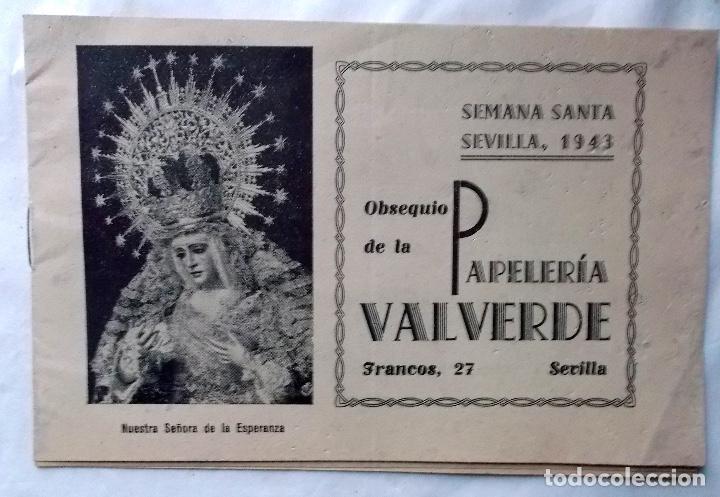 1943 SEMANA SANTA DE SEVILLA LIBRITO INFORMATIV0 (Coleccionismo - Carteles Pequeño Formato)