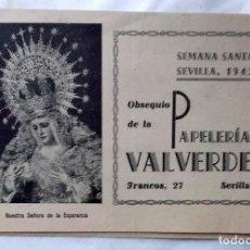 Coleccionismo de carteles: 1943 SEMANA SANTA DE SEVILLA LIBRITO INFORMATIV0. Lote 222072032