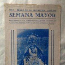 Coleccionismo de carteles: 1943 JEREZ DE LA FRONTERA SEMANA SANTA INFORMATIVO. Lote 222072223
