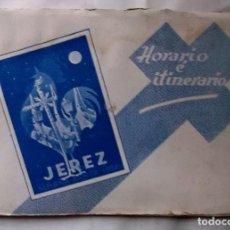 Coleccionismo de carteles: 1956 JEREZ SEMANA SANTA LIBRO INFORMATIVO DE LAS COFRADÍAS. Lote 222072481