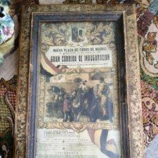Coleccionismo de carteles: NUEVA PLAZA DE TOROS DE MADRID CARTEL INAUGURAL 1931. Lote 222190585