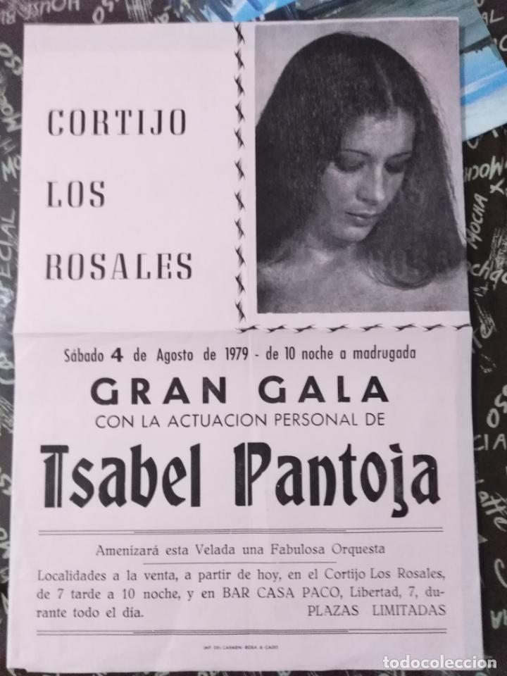 GRAN GALA ISABEL PANTOJA AÑO 1979-CORTIJO LOS ROSALES(CADIZ). (Coleccionismo - Carteles Pequeño Formato)