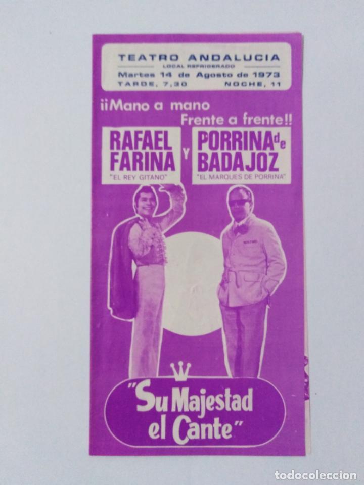TEATRO ANDALUCIA,PROGRAMA DE ACTUACIONES1973 (Coleccionismo - Carteles Pequeño Formato)