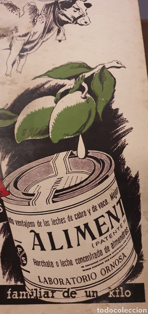 CARTEL PUBLICITARIO ALIMENTINA AÑOS CINCUENTA (Coleccionismo - Carteles Pequeño Formato)