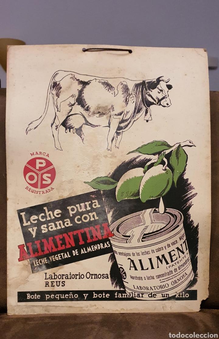 Coleccionismo de carteles: Cartel publicitario ALIMENTINA años cincuenta - Foto 2 - 222277476