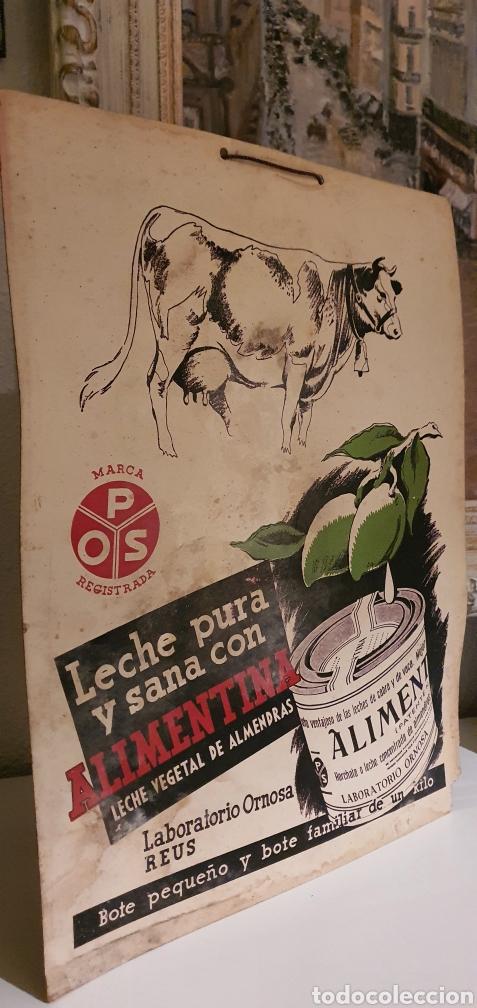Coleccionismo de carteles: Cartel publicitario ALIMENTINA años cincuenta - Foto 3 - 222277476