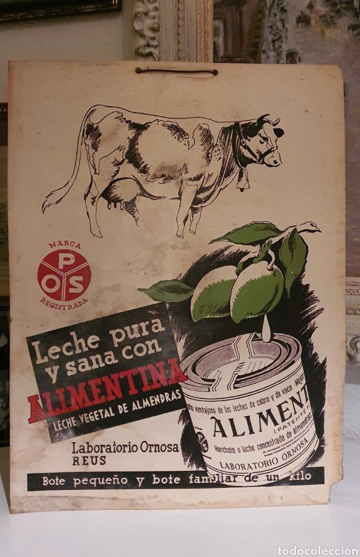 Coleccionismo de carteles: Cartel publicitario ALIMENTINA años cincuenta - Foto 5 - 222277476