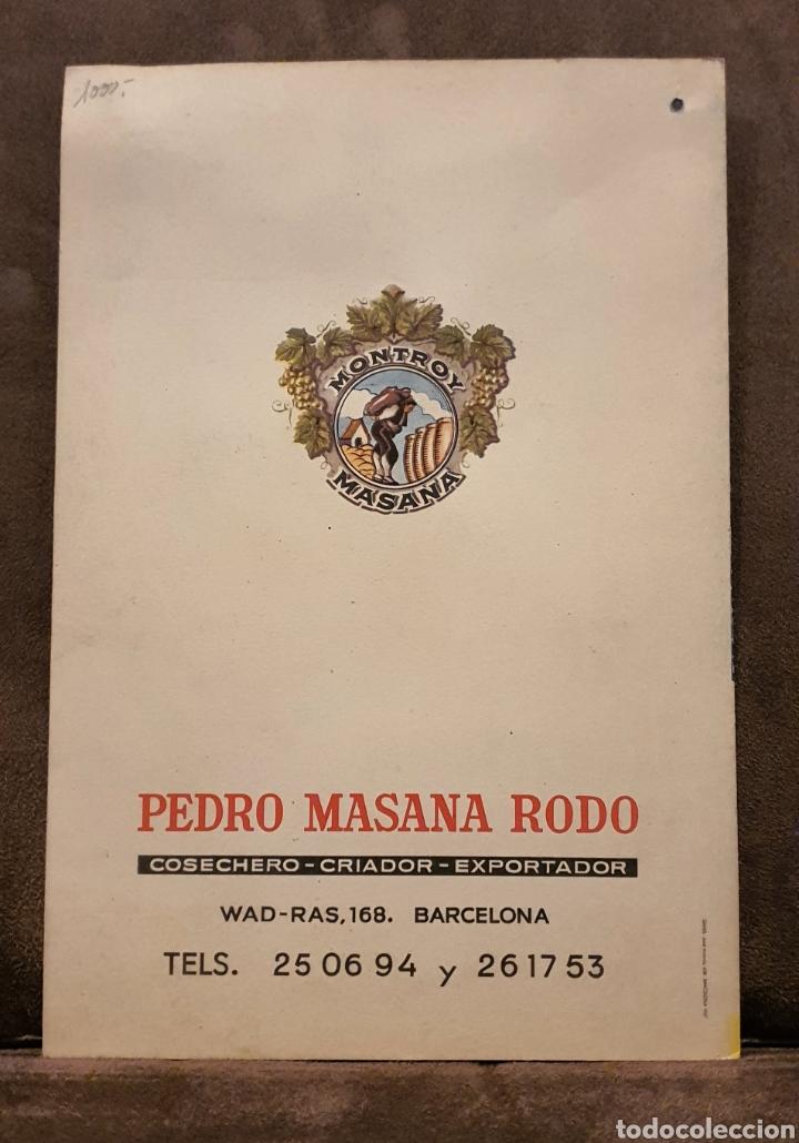 Coleccionismo de carteles: Cartel Publicitario año 1957 Montroy Masana - Foto 2 - 222279630