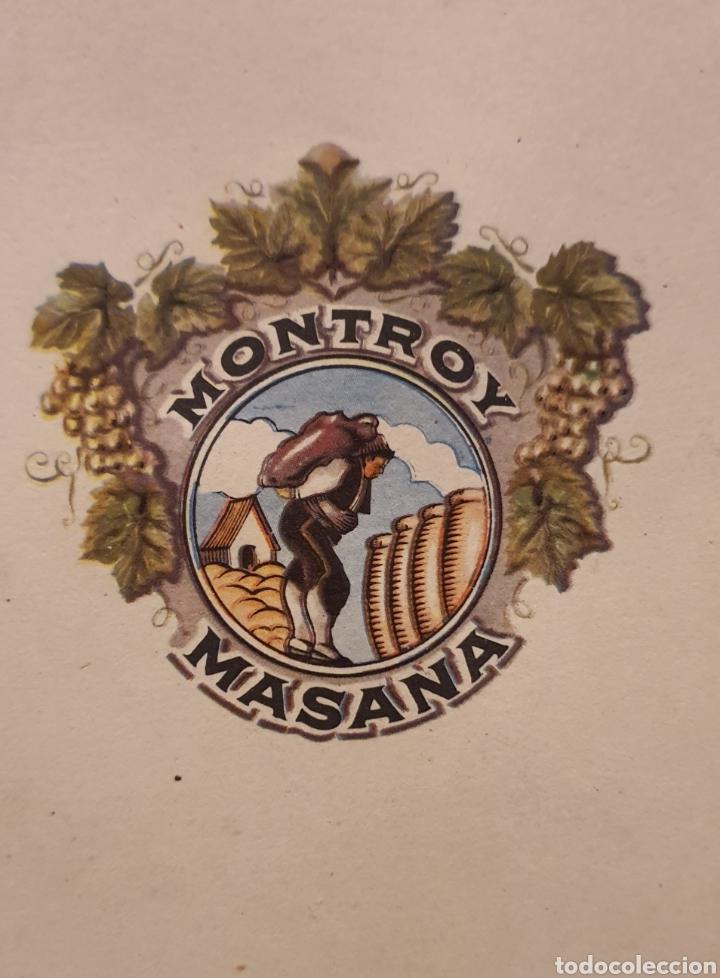 Coleccionismo de carteles: Cartel Publicitario año 1957 Montroy Masana - Foto 3 - 222279630