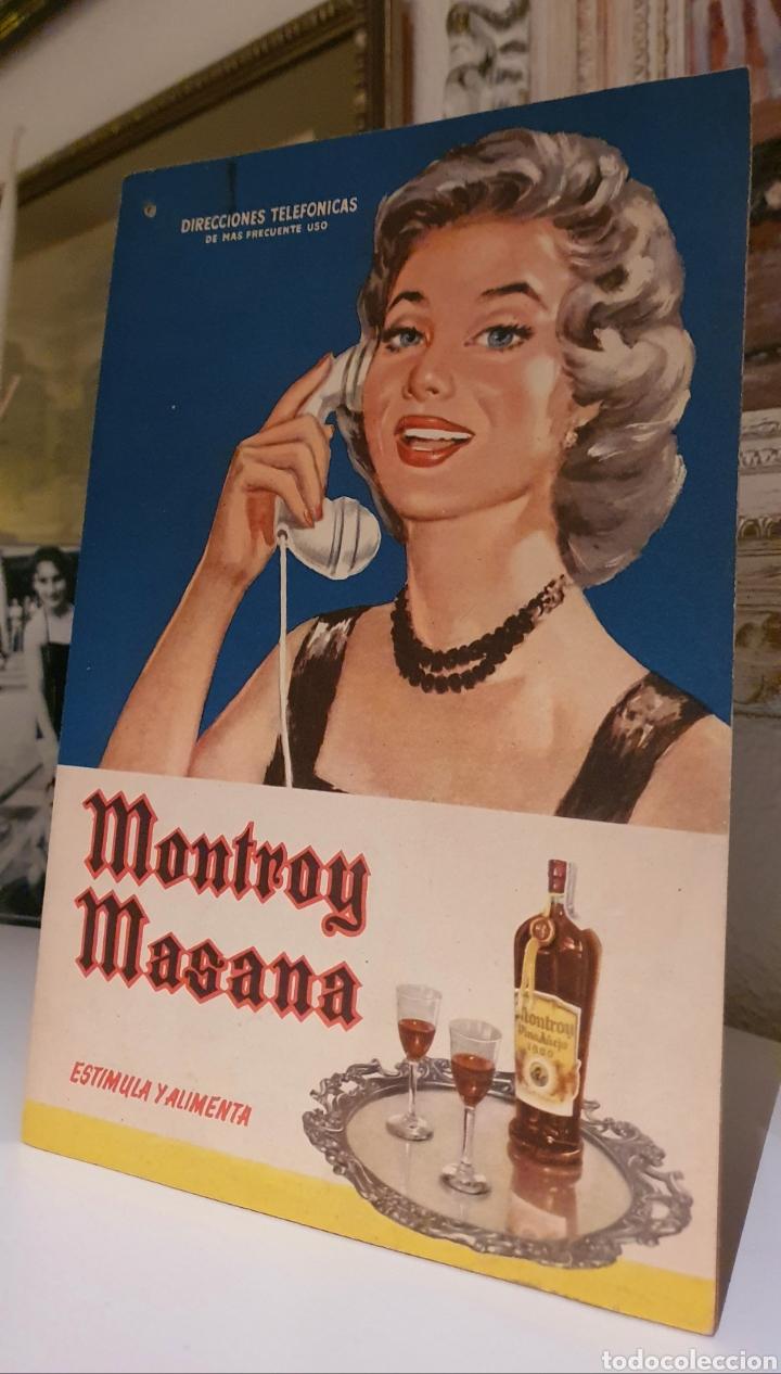 CARTEL PUBLICITARIO AÑO 1957 MONTROY MASANA (Coleccionismo - Carteles Pequeño Formato)