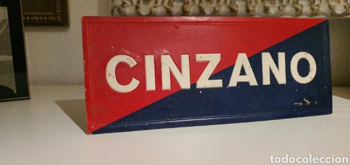 Coleccionismo de carteles: Zinzano Cartel Publicitario troquelado - Foto 2 - 222281827