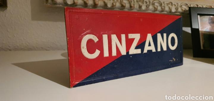 ZINZANO CARTEL PUBLICITARIO TROQUELADO (Coleccionismo - Carteles Pequeño Formato)