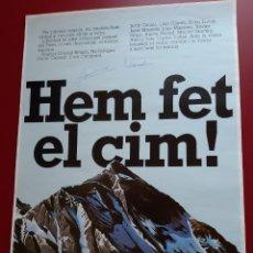 """Coleccionismo de carteles: CARTEL """"HEM FET EL CIM"""" EXPEDICIO CATALA AL EVEREST 1986. Lote 222321855"""