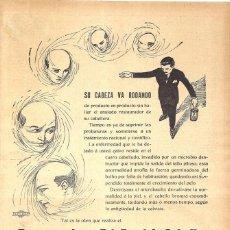 Coleccionismo de carteles: 1923 HOJA REVISTA PUBLICIDAD ANUNCIO DE PRENSA REGENERADOR PAZ DEL CABELLO ANTI CALVICIE. Lote 222333758
