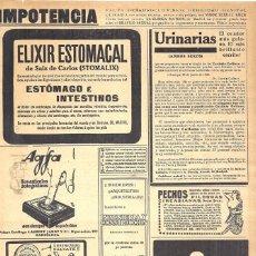 Coleccionismo de carteles: 1923 HOJA REVISTA PUBLICIDAD ANUNCIO DE PRENSA ARTÍCULOS FOTOGRÁFICOS AGFA. Lote 222334138