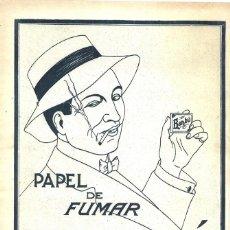 Coleccionismo de carteles: 1923 HOJA REVISTA PUBLICIDAD ANUNCIO DE PRENSA PAPEL DE FUMAR BAMBÚ. Lote 222334576