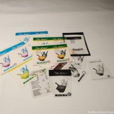 Coleccionismo de carteles: PRUEBAS DE IMPRENTA DE CARTEL EN CARTÓN + CLICHÉS, ACEITE DON MANUEL, RIOSA, LINARES - JAÉN. Lote 222386051
